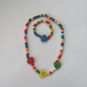 Kinderketting-met-armbandje-met-hartje-smiley kindersieraden Essies Joy