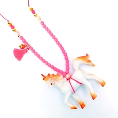 Unicorn ketting orange - Kinder dierenketting - Kettingen meisjes - Kindersieraden Essies Joy